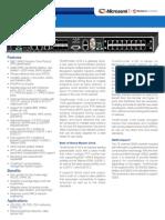 Microsemi TimeProvider 4100 Datasheet VC