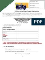 DBNA Tix Application 2018