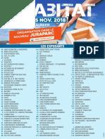 La liste des exposants du salon Habitat 2018