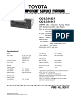 Panasonic Radio CQ-LS8180A - CQ-LS8181A - Toyota