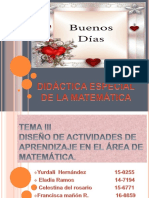 Exposicicion de Didactica Especial de La Matematica.