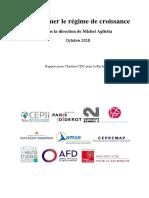 Aglietta Michel, Transformer Le Regime de Croissance, Octobre 2018
