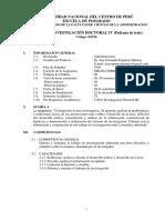 61D16 Silabo de Investigación Doctoral IV