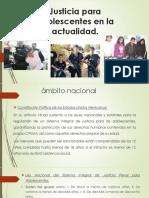 Justicia Para Adolescentes en La Actualidad
