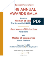 2018 Annual Awards Gala