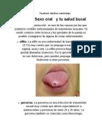 Sexo Oral y Tu Salud Bucal