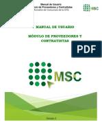 Manual de Usuario  Módulo de Proveedores y Contratistas Micrositio de Concursos de la CFE