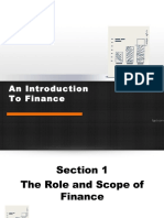 Chapter 1 Introduction of Finance