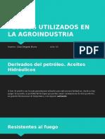 Fluidos Utilizados en La Agroindustria