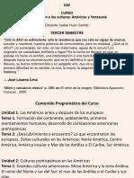 Inroducción Al Curso Culturas en Americas y Venezuela