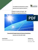 Trabalho Teórico PGE SistemasFotovoltaicos 40628 40570 Versão1.0