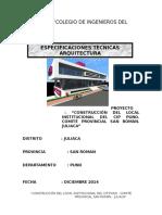 2.0. Especificaciones Arquitectura