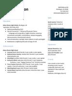 senior finance resume word