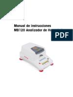 Manual de operación de Analizador de humedad Halógeno Mettler Toledo.