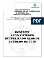 LAGO TITICACA - Informe Semanal (Actualizado 09-02-18)