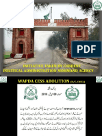 Initiatives Taken by the current political administration Mohmand Agency