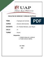 Derecho Administrativo tipologias de contratos