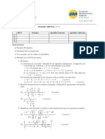 Taller Grupal 1 matemática