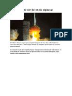 China Quiere Ser Potencia Espacial