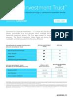 Bitcoin Investment Trust Fact Sheet