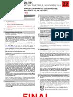 CIE November 2010 FINAL Examination Timetable (Zone 2)