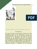 La Importancia de La Revolución Francesa Para El Mundo Moderno y Contemporáneo