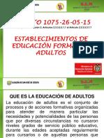 EDUCACION ADULTOS.
