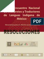 Primer Encuentro Nacional de Intérpretes y Traductores de Lenguas Indígenas de México