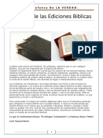 Historia de Las Ediciones Biblicas