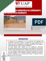 DEFORMACIONES ADMISIBLES DE SUBRASANTE EN PROYECTO DE PAVIMENTO