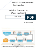 Physical Processes in Water Treatment Student