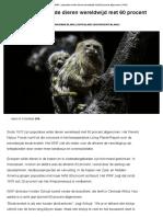WNF  Populaties Wilde Dieren Wereldwijd Met 60 Procent Afgenomen  NOS