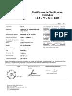 CertificadoCalibracion LLA VP 041 2017