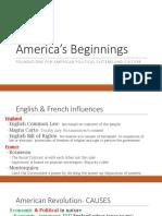 1 America's Beginnings
