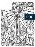 Coloriage Adulte Papillons g 4