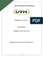 Gestion Empresarial- Informe Del Capitulo 3 El Empresario