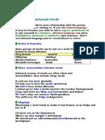 Formal and Informal Words