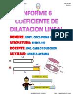6 Coeficiente de Dilata Cion Lineal Coca Poma Luz Wara