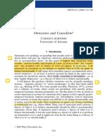 Omission and Causality Sartorio2009