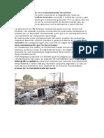 Qué Es La Contaminación Del Suelo