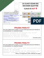 La Clave Cesar Del Decoder Quattre Claus Es Rot 4