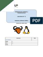 Laboratorio 12 - Hardware y Entorno Gráfico