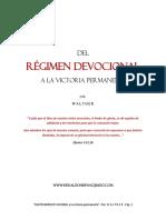 Del Régimen Devocional a la Victoria Permanente