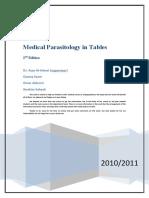 ملزمة منهج البارا فى جداول 2011Medical Parasitology - Full