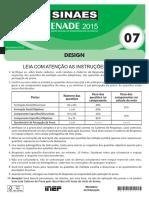 Prova ENADE 2015 DESIGN