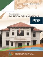 Kecamatan Muntok Dalam Angka 2017