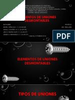 Elementos de Uniones Desmontables