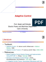 Introduction to Adaptive Control