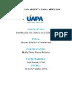UNIDAD III El Sistema Educativo Dominicano