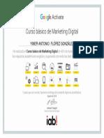 Certificado Curso Básico de Marketing Digital